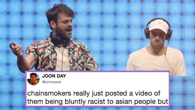 The Chainsmokers apologize for racist joke about Asians after Twitter dragged them.