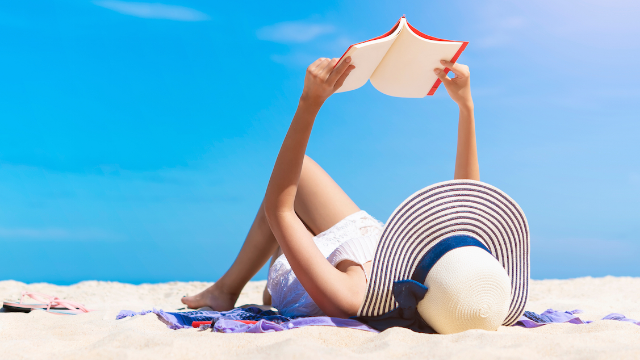 We found a beach chair that has a hole for your face so you can read a book. Or watch Netflix.