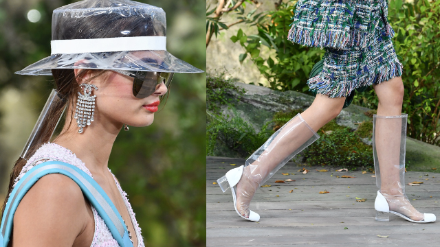 Chanel is making bizarre clear plastic boots and hats. Twitter has a lot of  feelings. 3ca0f45a02d8