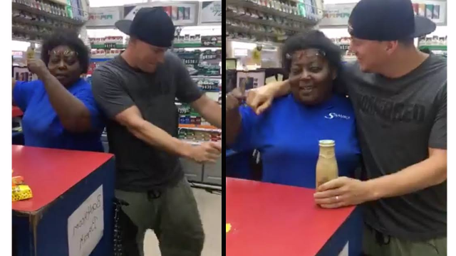 Channing Tatum went full 'Magic Mike' in a gas station. The cashier will never be the same.