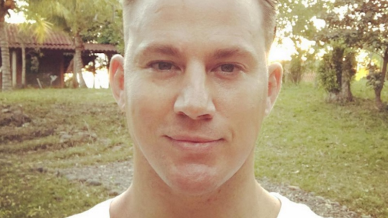 Channing Tatum is now blond. Adjust your attraction levels accordingly.