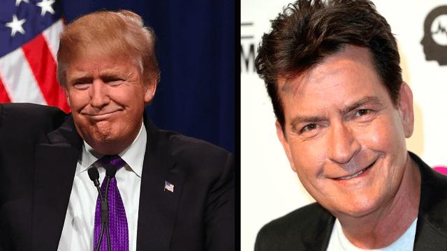 Charlie Sheen blames the media's reaction for backlash after he wished Trump dead.