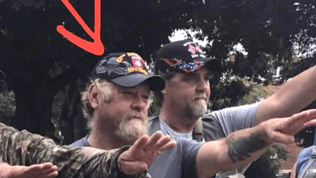 White supremacist wearing Army paratroopers hat called out by Army paratroopers.
