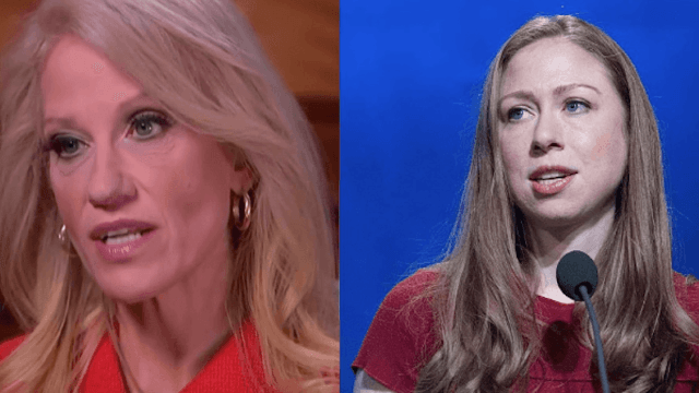 Chelsea Clinton calls out Kellyanne Conway's 'alternative' Bowling Green Massacre.