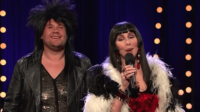 """Cher and James Corden will give you the warm fuzzies with an updated """"I Got You Babe"""" cover."""