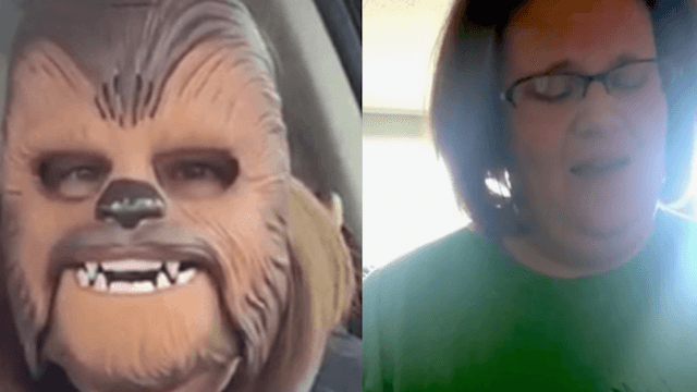 """Last week was hard, but Chewbacca Mom sang """"Heal the World"""" on Facebook live."""