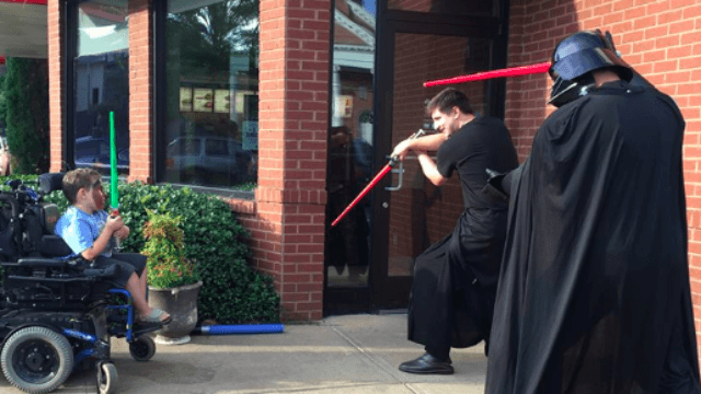 These Chick-fil-A employees played with a disabled boy when no one else would.