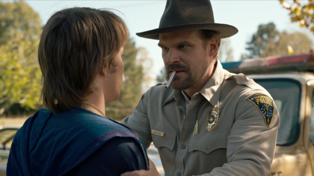 Evan Rachel Wood points out Chief Hopper from 'Stranger Things' seems abusive.