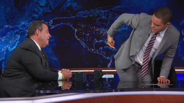 Chris Christie promised not to deport Trevor Noah in awkward 'Daily Show' interview.