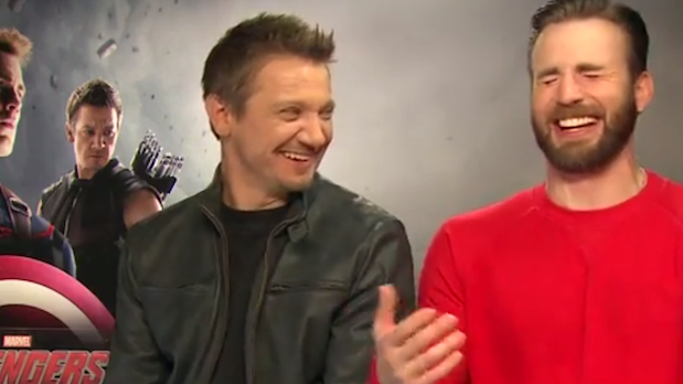 """Chris Evans and Jeremy Renner disappoint fans by calling Black Widow a whore on """"The Avengers"""" press junket."""