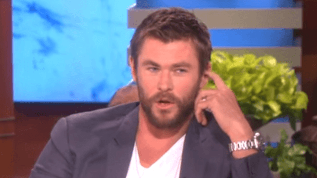 Chris Hemsworth explains to Ellen why his 4-year-old daughter started an 'I want a penis!' chant.