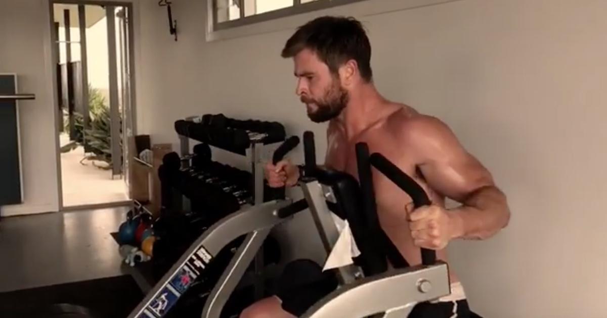 Chris Hemsworth shows ...