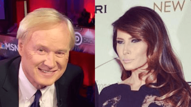 Chris Matthews forgot his mic was on when he spoke the truth about how hot Melania Trump is.
