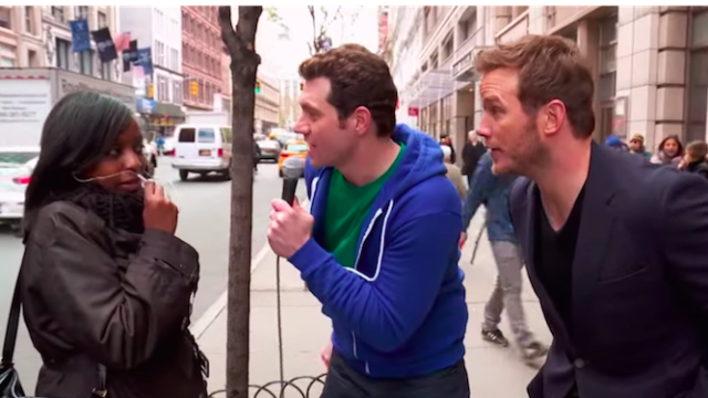 Chris Pratt met the only New Yorkers who have never heard of him and was very charming.