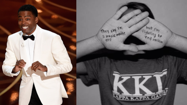 Sorority girls, victims of Chris Rock's Oscar monologue, did not take well to the jab.