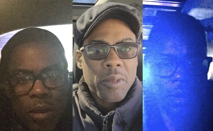 Chris Rock takes a selfie every time the cops pull him over, and it happens a lot.