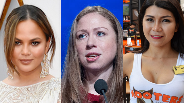 Chelsea Clinton's tweet at Chrissy Teigen ended with Hooters getting involved.