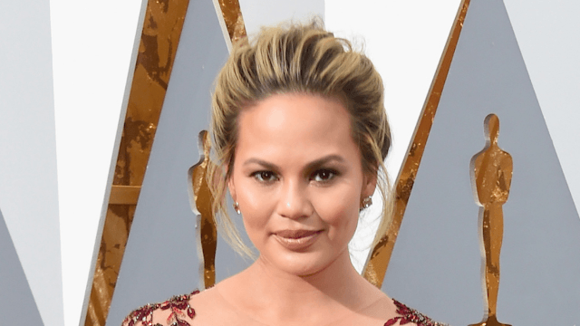 Chrissy Teigen responds to hysterical concerns that she went to dinner without her daughter.