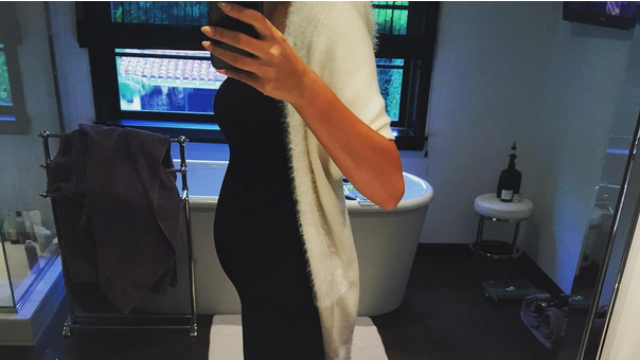 Chrissy Teigen vowed to stop 'preg tweeting' after nosy people's responses to this Instagram photo.