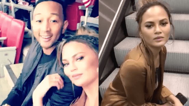 Chrissy Teigen drunk-tweeted the Super Bowl, is all of us.