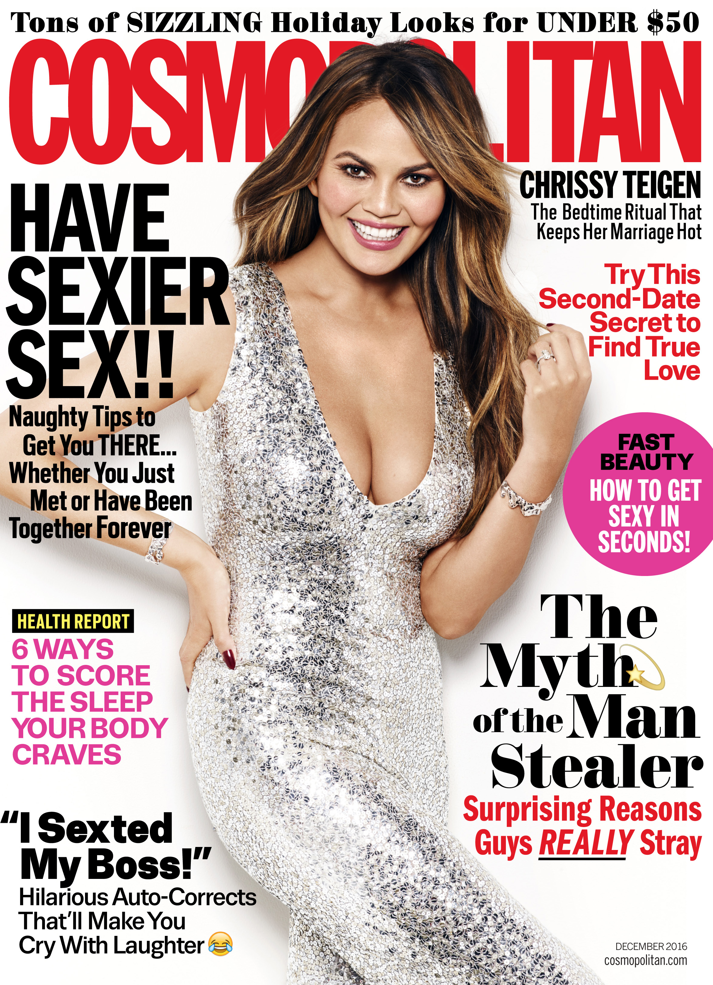 'Vogue' may have said cleavage is dead, but 'Cosmo' clearly disagrees.