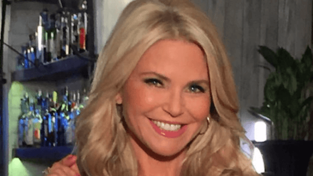 Christie Brinkley sprays garden hose on woman about to pee in front of her beach house.
