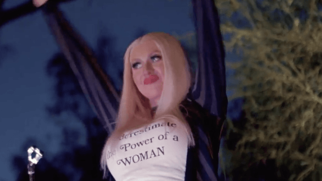 Christina Aguilera's song choice at a Hillary Clinton fundraiser might have been a big FU to Trump.
