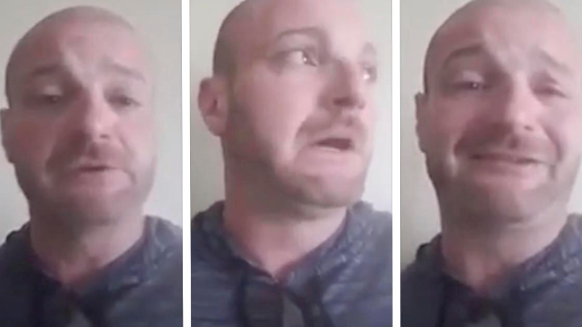 Watch this Nazi who was 'ready for violence' cry when he finds out he might be arrested.