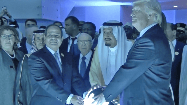 Church of Satan trolls Trump over his eerie photo-op with a glowing orb.