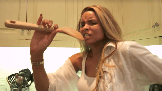 Watch a very pregnant Ciara joyfully lip-sync and dance around her house to 'I'm Every Woman.'