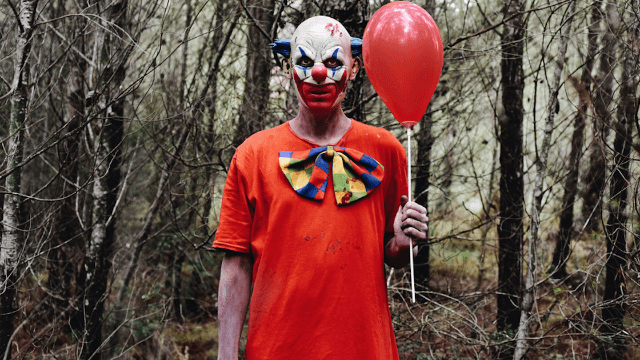 A teen dressed up as a clown to scare his friends and it ended in bloodshed.