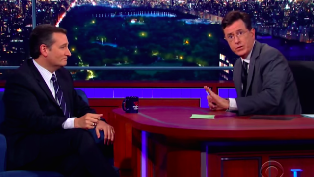 Colbert schools Ted Cruz on Ronald Reagan in the politest way possible.