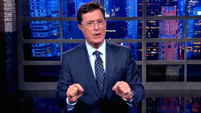 'The Late Show' premiere almost didn't happen this week. Colbert explains.