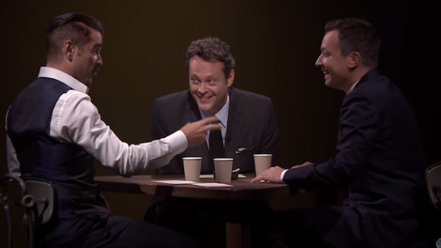 Colin Farrell, Vince Vaughn, and Jimmy Fallon tell secrets and lies.