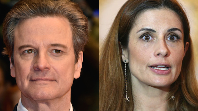 Colin Firth's wife admits to having an affair with the couple's alleged stalker.