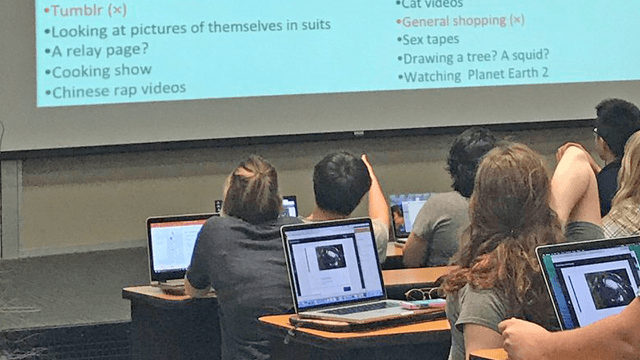 College instructor busts her class with hilarious list of things she's snooped on their computers.