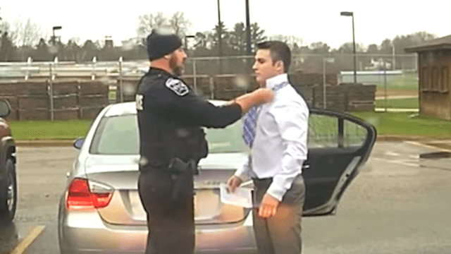 College student pulled over for speeding gets a sweet life lesson instead of a ticket.