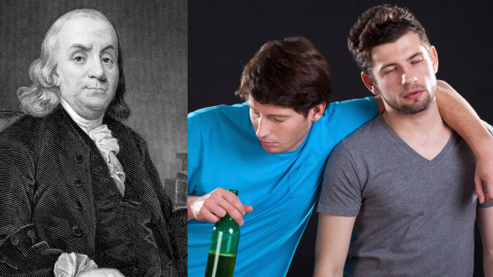 Colonial Americans drank almost three times as much booze as we do.