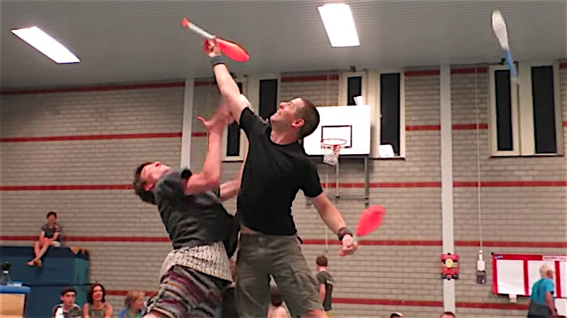 Combat juggling is a real and badass sport, no matter what your disappointed father says.