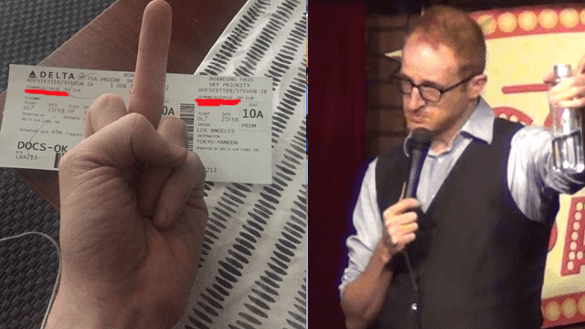 Comedian shares glorious story of vengeance after woman lets her dog poop in the airport.