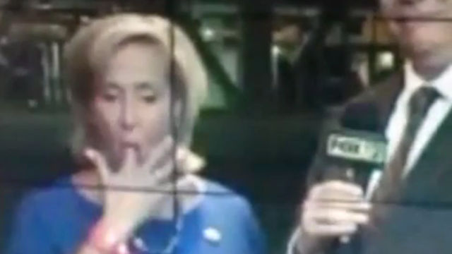 Oh dear god, did this congresswoman just eat a booger on live TV?