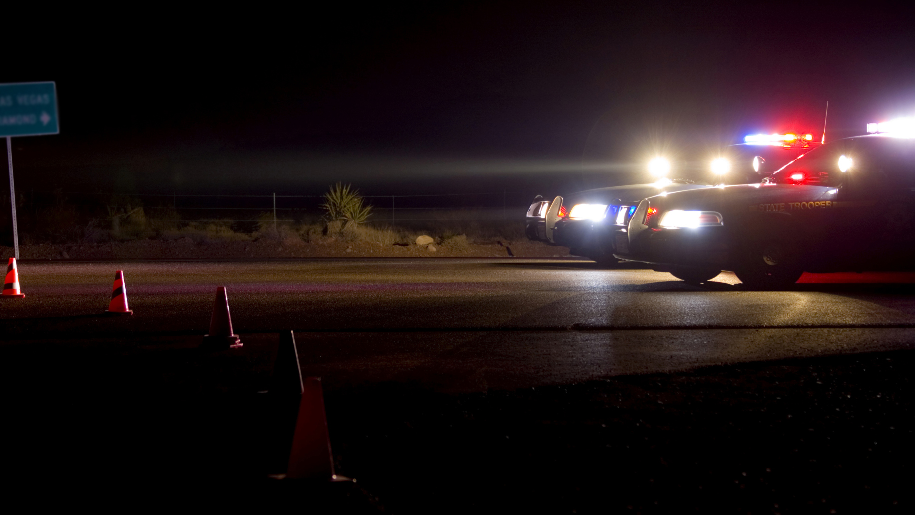"Drunk ""cop"" sets up fake DUI checkpoint in middle of the road."