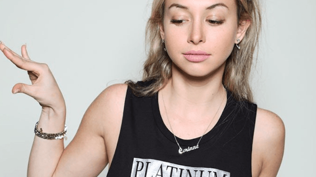 'The Bachelor' alum Corinne proves she's nuttier than we thought with new 'Platinum Vagine' t-shirts.