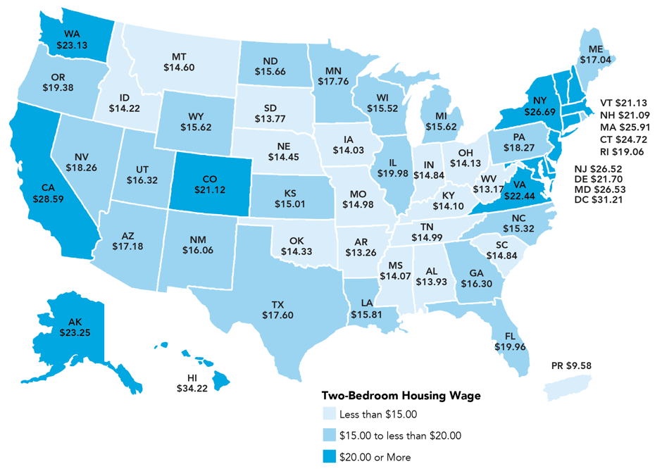 Heres The Hourly Wage Youd Need To Afford A 2bedroom Rental In