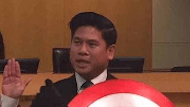 This city councilman brought the most badass accessory to take his oath of office.
