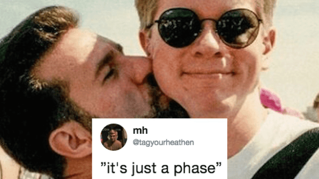 Gay couple recreates their 'coming out' photo 25 years later. Twitter is in love.
