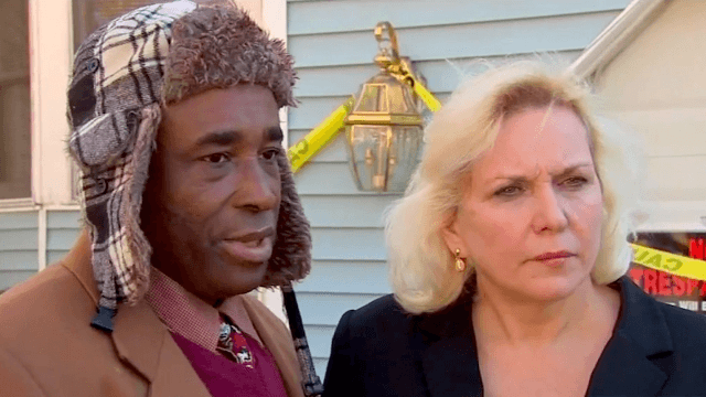 City fines interracial couple $100 because someone spray-painted an ethnic slur on their house.