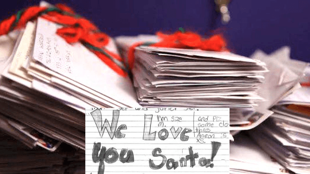 Couple accidentally receive hundreds of letters meant for Santa and respond to every single one.