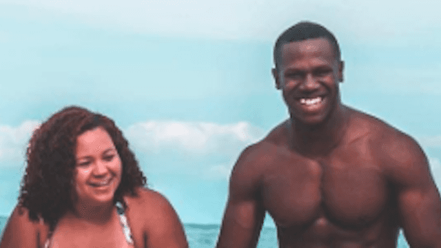 'Curvy' woman's bathing suit photo with her 'fit' husband makes waves.