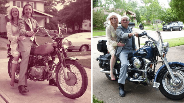 10 couples recreated old photos of themselves, reminding you that love is timeless, not ageless.